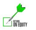 Return on equity check dart sign concept illustration design over a white background Stock Image