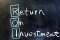 Return on investment chalk drawing Stock Photo