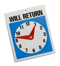 Return Sign Royalty Free Stock Photo