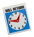 Return Sign Royalty Free Stock Photo