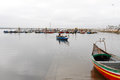Return of toil typical boats in ria de aveiro portugal torreira harbor on july hour the fishing these boats are part the Royalty Free Stock Images