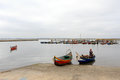 Return of toil typical boats in ria de aveiro portugal torreira harbor on july hour the fishing these boats are part the Stock Photography