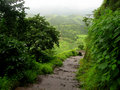 Return Way From Lohgad Fort Stock Images