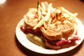 Reuben sandwich Royalty Free Stock Photography