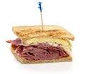 Reuben sandwich, pastrami sandwich Royalty Free Stock Photo