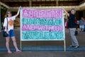 Reunião Pro-choice do aborto no capital de estado de Havaí Imagem de Stock Royalty Free