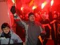 Reunión de Anti-Kremlin en Moscú Imágenes de archivo libres de regalías