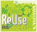 Reuse green think concept rethink recycle Stock Photography