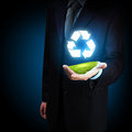 Reuse reduce recycle poster design include reuse symbol image Royalty Free Stock Photography