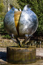 Revelation a kinetic water sculpture by angela conner chatsworth house bakewell derbyshire england april made from stainless steel Stock Images