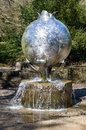 Revelation a kinetic water sculpture by angela conner chatsworth house bakewell derbyshire england april made from stainless steel Royalty Free Stock Photo