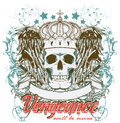 Revenge vector illustration ideal for printing on apparel clothes Stock Images
