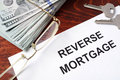 Reverse mortgage form. Royalty Free Stock Photo