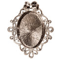 Reverse side of silver pendant isolated on white background Royalty Free Stock Image