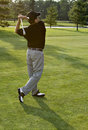 Review Golf Swing Royalty Free Stock Photo