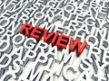 Review word in red salient among other related keywords concept in white d render illustration Stock Photos