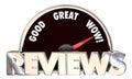 Reviews Feedback Ratings Good Great Wow Speedometer