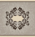 Revival ornamental card or invitation Royalty Free Stock Photography