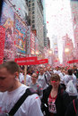 Revlon Run/Walk Start, Times Square Royalty Free Stock Photo
