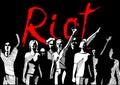 Revolution-riot crowd