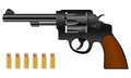 Revolver and bullets Stock Image