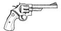 Revolver drawing clip art of a gun or Stock Images