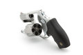 Revolver open isolated over white Stock Images