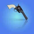 Revolver vector illustration of black Stock Image