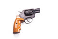 Revolver on a white background Royalty Free Stock Photo