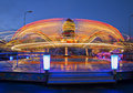 Revolving carousel enlarge ride speed by twice Royalty Free Stock Photography