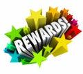 Rewards 3d Word Stars Prize Incentive Bonus Enticement