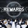 Rewards prize benefit trophy budget concept Stock Images