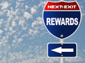 Rewards road sign Royalty Free Stock Photography