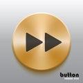 Rewind forward golden button with black symbol
