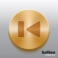 Rewind previous golden button Royalty Free Stock Photo