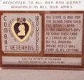 Rewolucjonistki purple heart marmurowy pomnik Zdjęcia Royalty Free