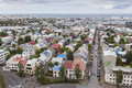Reykjavik capital of iceland the colourful Royalty Free Stock Images