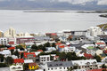 Reykjavik on the water Royalty Free Stock Image