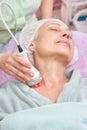 Rf skin tightening procedure. Royalty Free Stock Photo