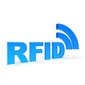 Rfid text in blue color Stock Photography