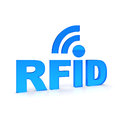 Rfid text in blue color Royalty Free Stock Photography