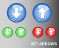 RGB Button Arrows (Upload/Download) Royalty Free Stock Photos