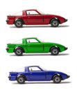 RGB Cars Royalty Free Stock Photography
