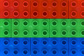 Rgb colors - Lego Royalty Free Stock Photo