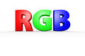 Rgb d red green blue text Royalty Free Stock Images