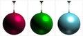 RGB Disco Ball On White Background Vector Royalty Free Stock Photo