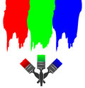 Rgb ink paints vector illustration of Stock Image