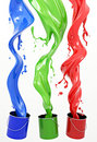 RGB Paint Royalty Free Stock Photo