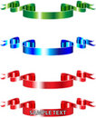 Rgb ribbons Stock Images