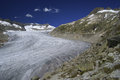 Rh ne glacier source of the river in urner alps switzerland Royalty Free Stock Photo